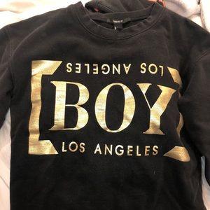 Forever 21 black/gold boy sweatshirt